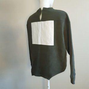 ZARA woman | army green asymmetrical color block